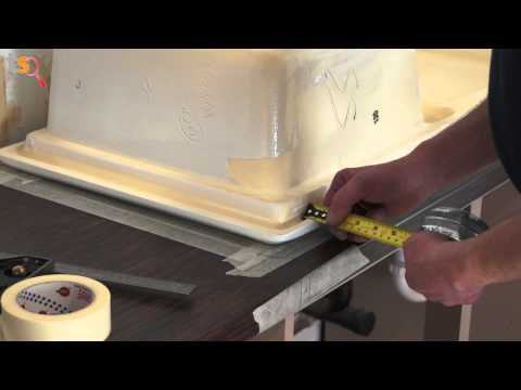 Tommy's Trade Secrets - How to Cut a Sink into a Laminate Wo