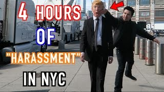 "Donald Trump 4 Hours of ""Harassment"" In NYC! (SECURITY THREATENS)"