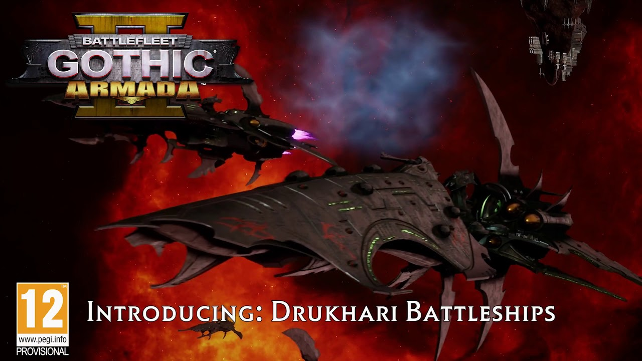 Battlefleet Gothic Armada 2  Druhkari Battleships  YouTube