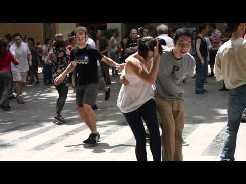 Swing dancing in Barcelona