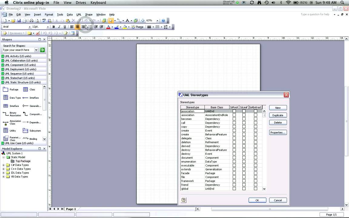 Creating uml class diagrams with visio part 1 starting and creating uml class diagrams with visio part 1 starting and stereotypes youtube pooptronica Images
