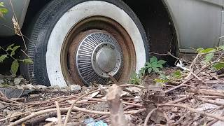 Airing up old tires on a 1965 Ford Galaxy 500.