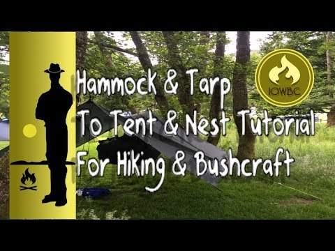 hammock and tarp - tent and nest tutorial