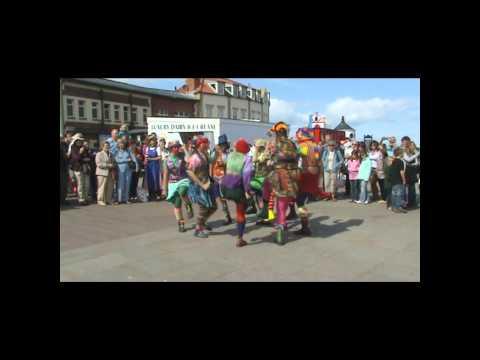 Gog Magog dancing at the Bandstand, Whitby Folk Week