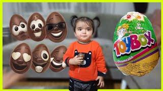 Nisan Toybox ve Ozmo Yumurta Kafalar Sürpriz Yumurta Açıyor Funny Kids Video Çocuk Videosu