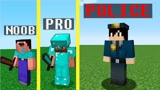 Minecraft Noob vs Pro vs Policeman : JAILBREAK PRISON ESCAPE challenge - Minecraft Battle