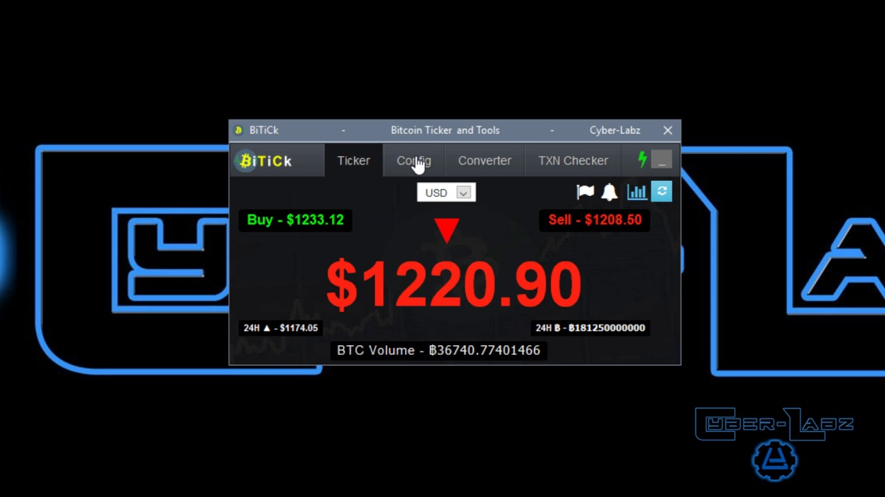 BiTiCk Bitcoin Ticker & Tools Features Demo - YouTube