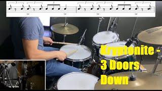 Kryptonite Drum Tutorial - 3 Doors Down