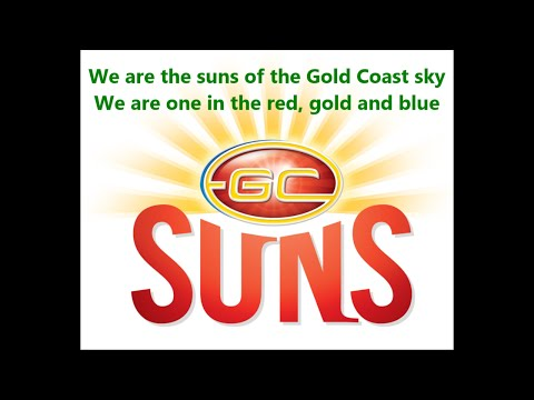 Gold Coast Suns theme song (Lyrics) AFL Sing-A-Long