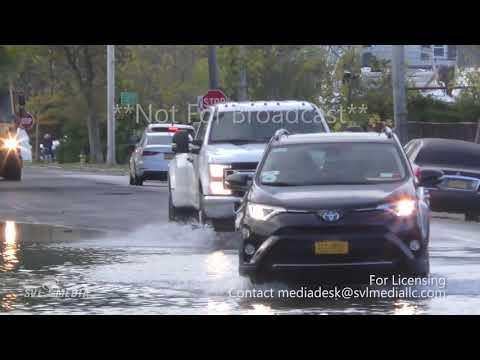 Freeport, New York - Coastal Flooding During Morning Commute - October 11th, 2019