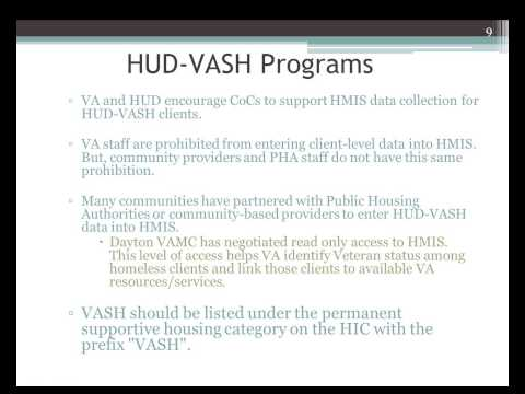 HMIS Webinar: VA HMIS National Call Training - 5/2011