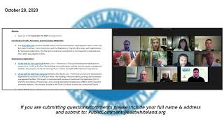 October 28 2020 East Whiteland Planning Commission