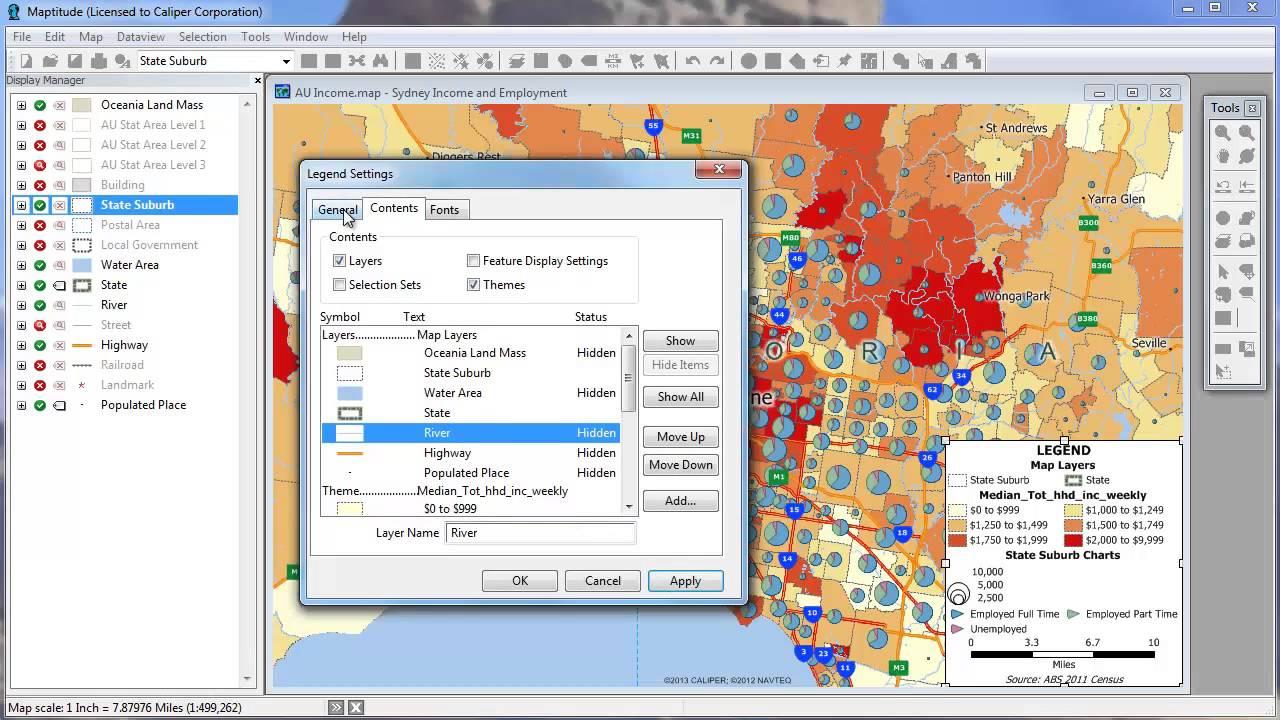 editable customizable map legends in maptitude mapping software. editable customizable map legends in maptitude mapping software