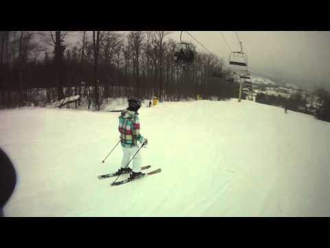 12/31/12 The Big Man, Ski Buddy Riley sporting Ski Haus Fashion.