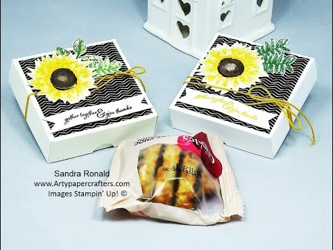 How to Make a Mini Cookie Box - SandraR Stampin' Up! Demonstrator Independent