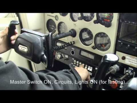 Cessna 152 cockpit flight training (start-up, pre-flight, takeoff, climb)