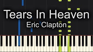 Tears In Heaven Eric Clapton Piano Tutorial Synthesia