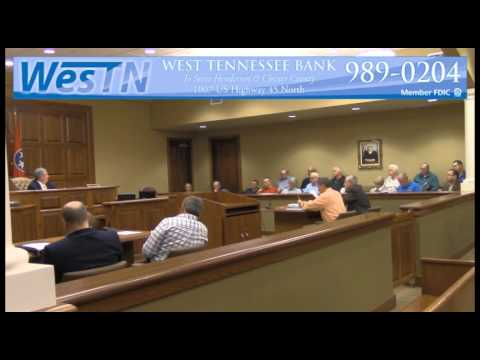 Chester County Commission Meeting 03-14-16