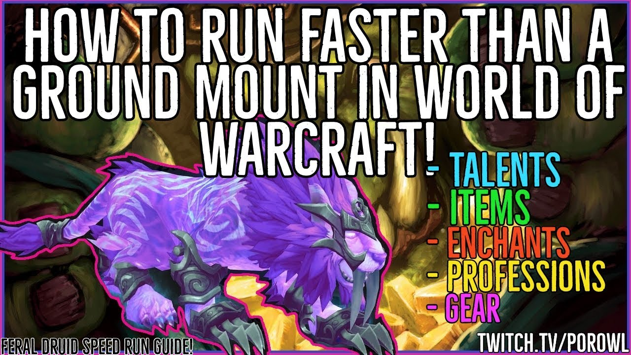 How to Run Faster Than a Ground Mount Inside Dungeons in World of Warcraft!  | Druid Speed Run Guide