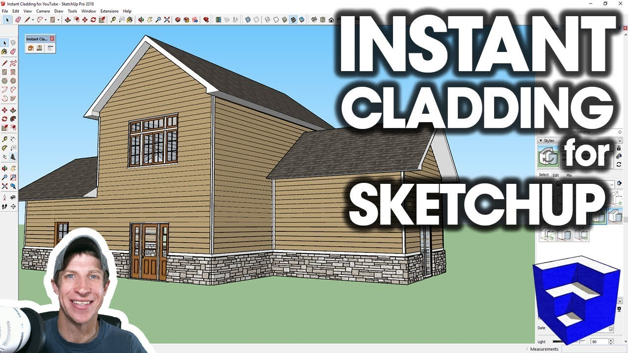 INSTANT CLADDING in SketchUp! (Extension Introduction) - The