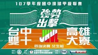 107HVL男四強決賽::曾文農工 vs 瑞芳高工: 107學年度高中排球甲級聯賽 VOD