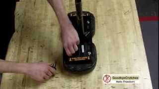 How to change knee pads on Roscoe - Goodbye Crutches Knee Scooter