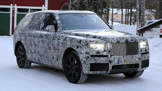 2018 Rolls Royce Cullinan SUV Winter Testing Spied