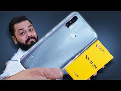 """realme Narzo 20A Unboxing And First Impressions ⚡⚡⚡6.5"""" Screen, SD 665, 5000mAh & More"""