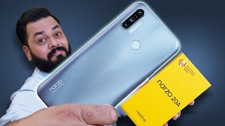 "realme Narzo 20A Unboxing And First Impressions ⚡⚡⚡6.5"" Screen, SD 665, 5000mAh & More"
