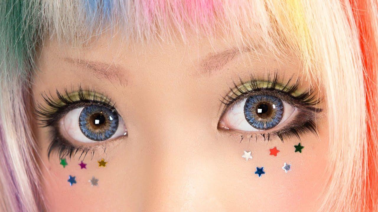 Star Eye Decorations Tutorial Starry Glitter Eyes Youtube