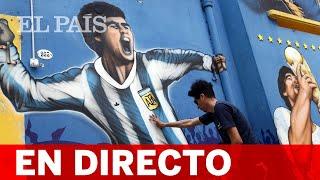 Tributos en Buenos Aires al fallecido astro argentino Maradona