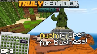 Ouch, is Open for Business! | TrulyBedrock Season 2 [#3] | Minecraft Bedrock Edition SMP Server