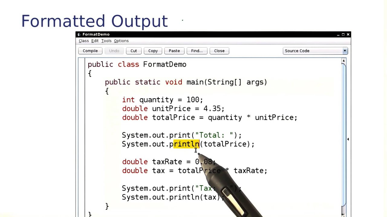 Formatted Output Intro To Java Programming Youtube