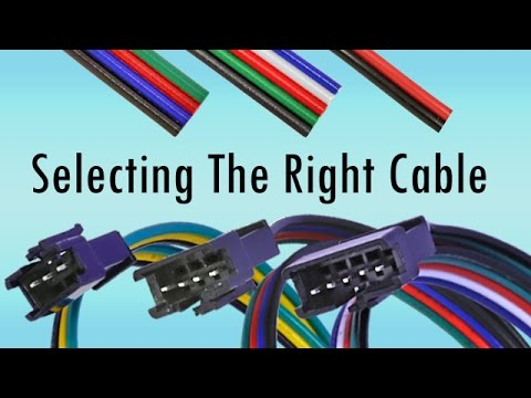 four way flat wiring diagram of car air conditioning how to wire led strips selecting the right cables connectors