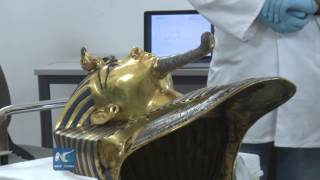 RAW: Restoration of Tutankhamun mask underway in Egypt