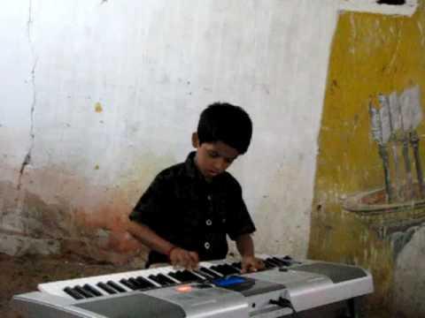 Padmesh playing Raghupathi Raghava Rajaram