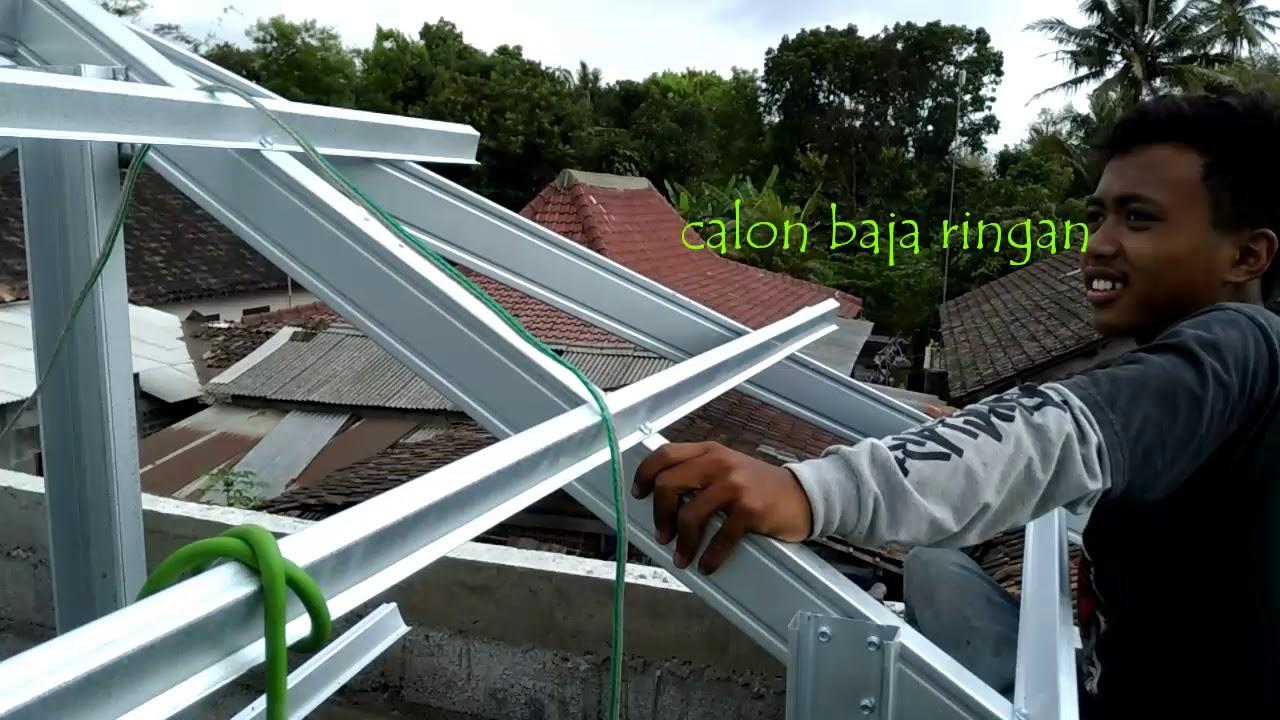 gambar rangka atap baja ringan limasan cara pemasangan jurai limas youtube