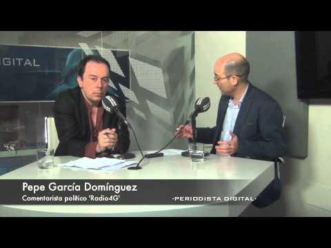 Pepe García Domínguez, comentarista político en Radio4G. 13-6-2014