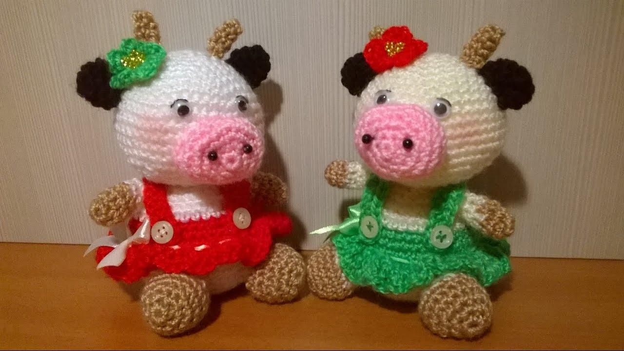 Mucca Uncinetto Amigurumi Tutorial Cow Crochet Vaca Croche