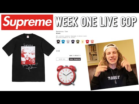DROPPING BANDS! Supreme F/W '18 Week One Live Cop!