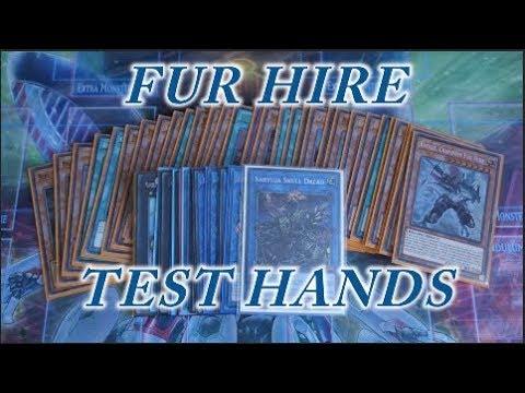 YUGIOH NEW Fur Hire TEST HANDS