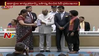 President Ram Nath Kovind Honours Late Actress Sridevi and Vinod Khanna || 65th National Film Awards