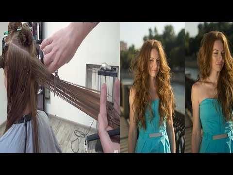 Hairdresser Education - haircut tutorial STEP BY STEP. How to cut long beauty hairstyles.