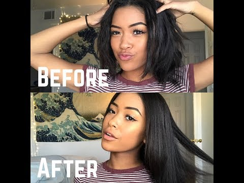 HOW TO GET PIN STRAIGHT HAIR!