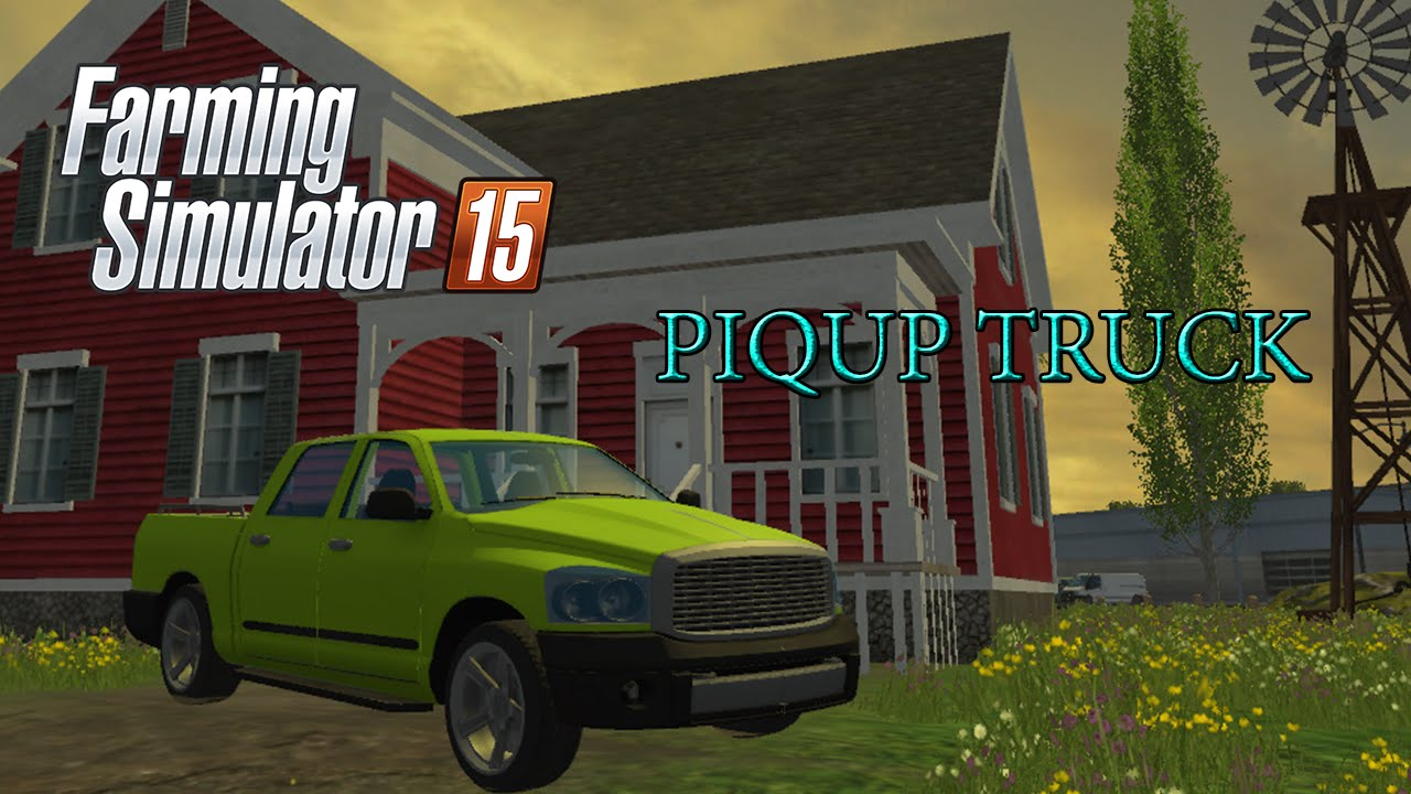 farming simulator 2015 pick up truck youtube. Black Bedroom Furniture Sets. Home Design Ideas