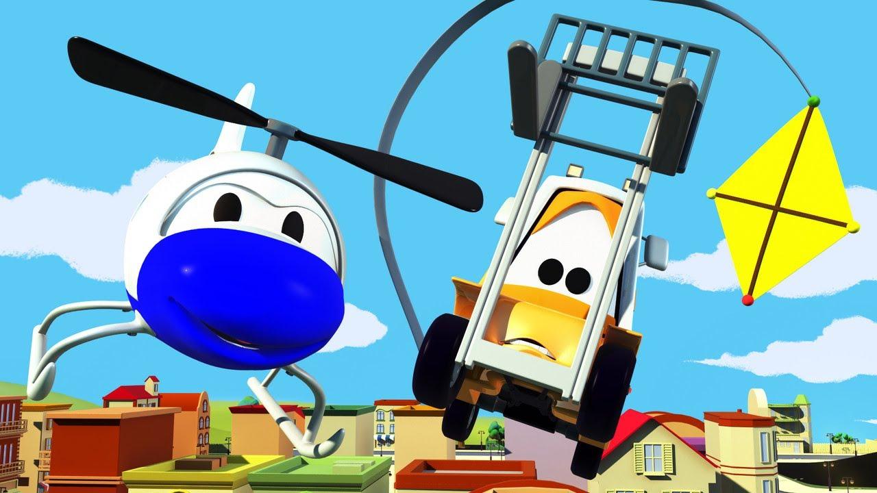 desene cu camioane pentru copii - Zmee in viteza  | Patrula auto | Car City World App