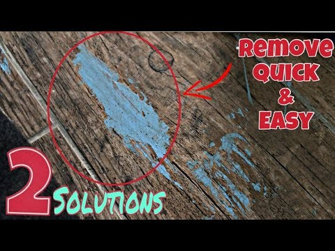 How to remove spilled paint from hardwood floors