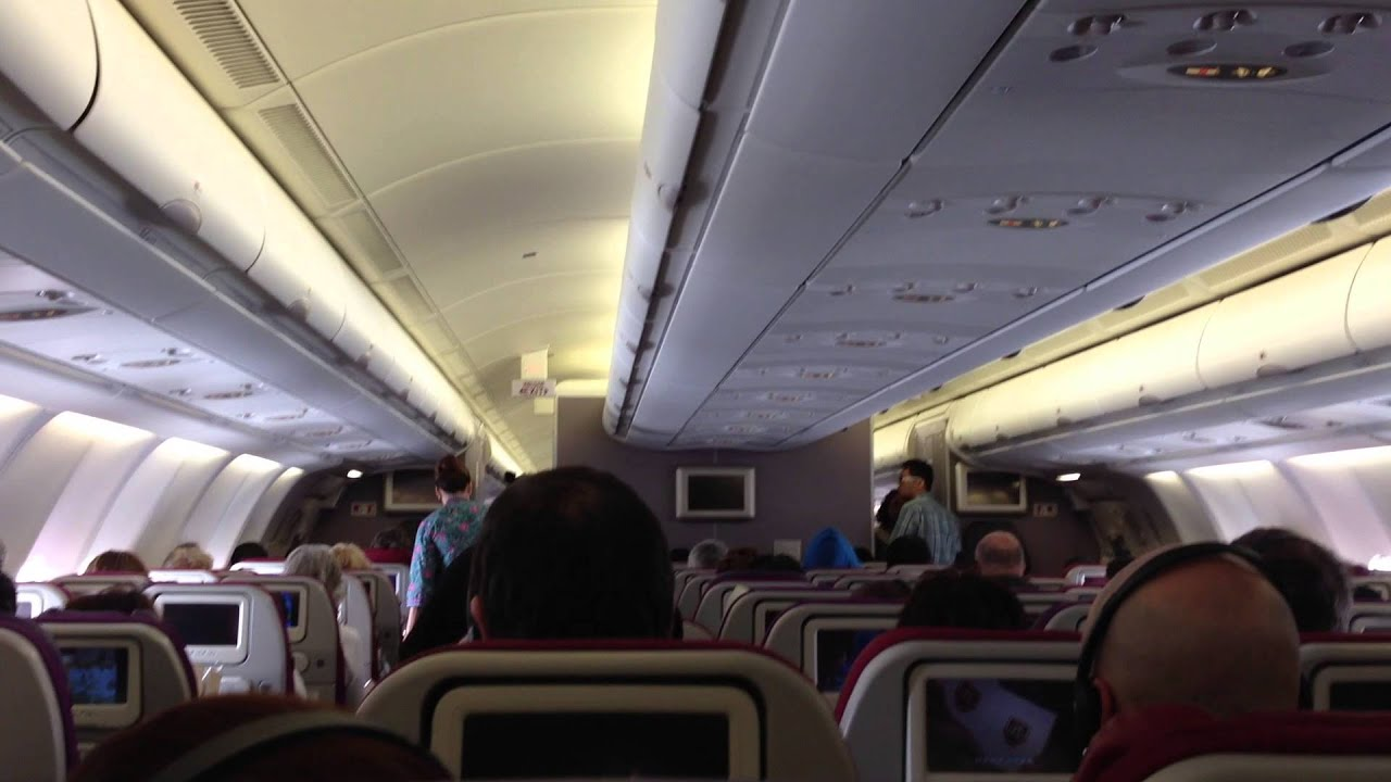 Malaysia Airlines - A330-300 Cabin view from seat 38G. KUL ...