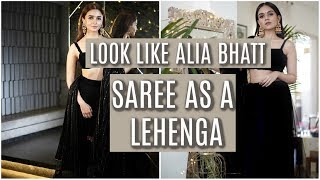 How To Wear A Saree In Lehenga Style | SUPER EASY! | Komal Pandey