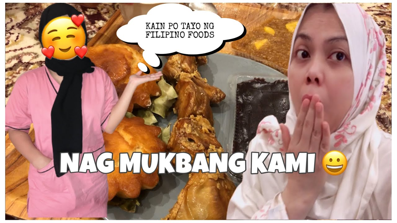PINAY ARAB | EATING FILIPINO FOODS WITH AMINA